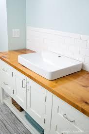 Diy Vanity Top How To Build Protect A Wood Vanity Top A Houseful Of Handmade