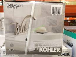 Costco Bathroom Faucets by Kohler Bellwood Centerset Bathroom Faucet Brushed Nickel