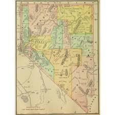 Nevada Map Map Nevada 1891 Original Art Antique Maps U0026 Prints
