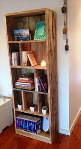pallet display tower bookcase 20 recycled pallet ideas diy
