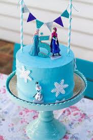 frozen themed rainbow cake anna elsa olaf snowflakes