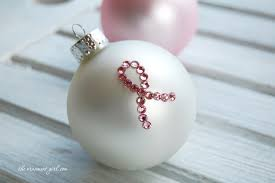 an easy pink ribbon ornament diy the ornament
