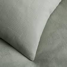 Grey Matelasse Coverlet Organic Texture Matelasse Coverlet Shams Light Sage West Elm
