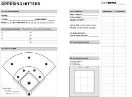 baseball scouting report template hitting charts for coaches baseball hitters scouting chart