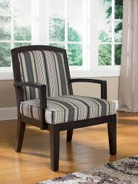 Wingback Dining Room Chairs Funiture Grey Fabric Wingback Accent Chair With Cushion And