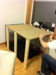 Diy End Table Dog Crate by Direwolf U0027 Dog Crate Table Top Check Out The Full Project Http