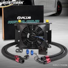 oil cooler fan kit 25 row an 10 oil cooler 7 fan for bmw n54 twin turbo 135 e82 335