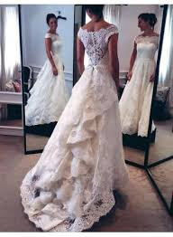 amazing sleeve lace wedding dresses 2018 zipper button