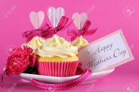 Mother S Day Decorations Happy Mothers Day Cupcake Gift With Pink Heart Decorations For