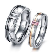 titanium rings images Engraved friendship couples titanium rings set for two jpg