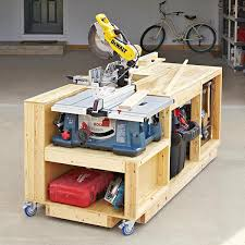 table saw workbench plans tool bases stands woodworking plans