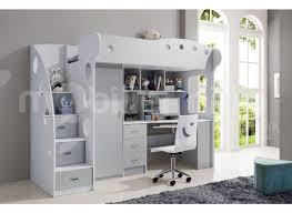 lit mezzanine avec bureau intégré galeries d en lit mezzanine 1 place bureau integre lit mezzanine