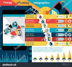 energy efficiency infographics set effective house stock vector