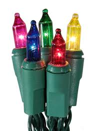 set of 20 battery operated multi color mini lights