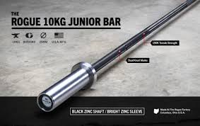 How Much Does Bench Bar Weigh Rogue 10kg Junior Bar 25mm Barbell Weight Training Rogue Fitness