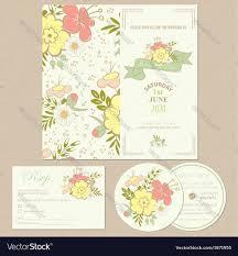 Weeding Invitation Card Spring Wedding Invitation Card Royalty Free Vector Image