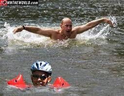 Obama Putin Meme - under obama s flaccid leadership russian bully putin boasts i can