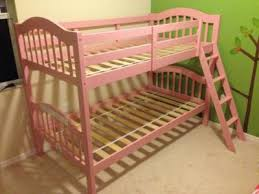 Storkcraft Long Horn Twin Over Twin Solid Hardwood Bunk Bed Pink - Pink bunk bed
