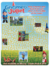 free gnomeo juliet printable activity sheets mama cheaps