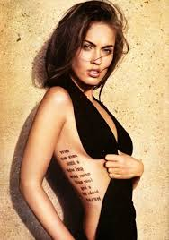 tattoos that cover the beautiful of megan fox the cestrian