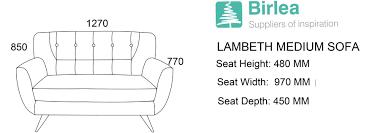 Sofa Seat Depth by Birlea Lambeth 2 Seater Duck Egg Blue Medium Sofa Settee