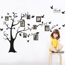 amazon com black 3d diy photo tree pvc wall decals adhesive