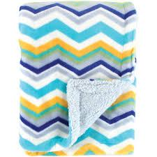 hudson baby plush blanket with sherpa backing walmart com
