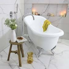 lawson white clawfoot bath with chrome feet 1720mm highgrove