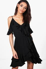 jiana cold shoulder ruffle shift dress dresses are the most wanted