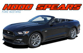 decals for ford mustang ford mustang spikes stripes vinyl graphic decal 2015