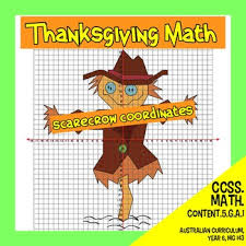 thanksgiving math scarecrow coordinates by tim donnelly s