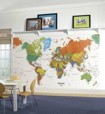 Kids World Map by World Map Decor For Kids Room 4 Best Kids Room Furniture Decor