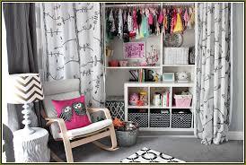 Closet Curtain Using Curtains For Closet Doors Home Design Ideas
