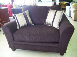 purple corner sofa and chair 2 years old selling as moved house