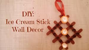 diy ice cream stick wall decor youtube