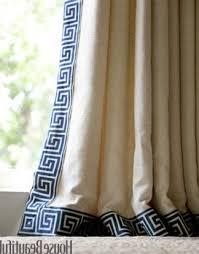Greek Key Trim Drapes Navy Blue And White Trim Greek Key Curtain Blue And Keys And