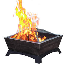 Steel Fire Pit - jeco 26 in hudson steel fire pit fp001 the home depot