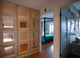 Contemporary Closet Doors For Bedrooms Wood Framed Mirrored Bifold Closet Doors Mirrored Bifold Closet