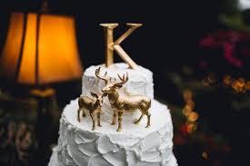 buck and doe wedding cake topper christmas winter gold deer wedding cake topper buck and