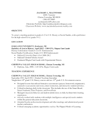 Sample Resume Objectives Teaching Position by Sample Resume Of A Teacher In High Resume For Your Job