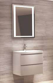 600 Vanity Unit White 2 Drawer Modern Bathroom Vanity Unit With Basin Sink Wall