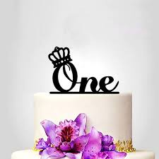 one princess diamond crown wedding cake topper first anniversary