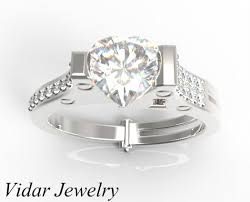 heart shaped engagement ring unique heart shaped diamond handcuff engagement ring vidar