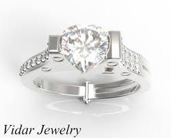 heart shaped engagement ring unique heart shaped diamond handcuff engagement ring vidar