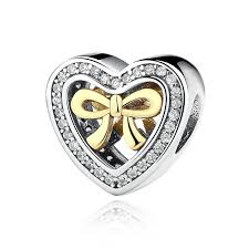 sterling silver heart bead bracelet images Bounded by love heart shaped sterling silver charms with 14k gold jpg