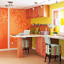 office over the desk pendant colors with yellow and orange with