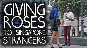 strangers flowers are singaporeans emotionless on s day giving flowers to