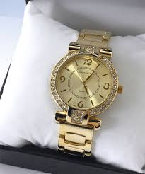 gold tone bracelet images Charter club women 39 s gold tone bracelet crystal bezel 25mm 16398 jpg