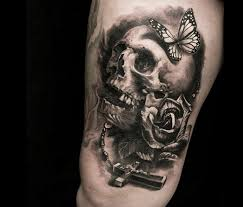 cross skull tattoo by led coult no 1158