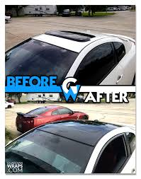nissan altima roof wrap black gloss vinyl guardian wraps before